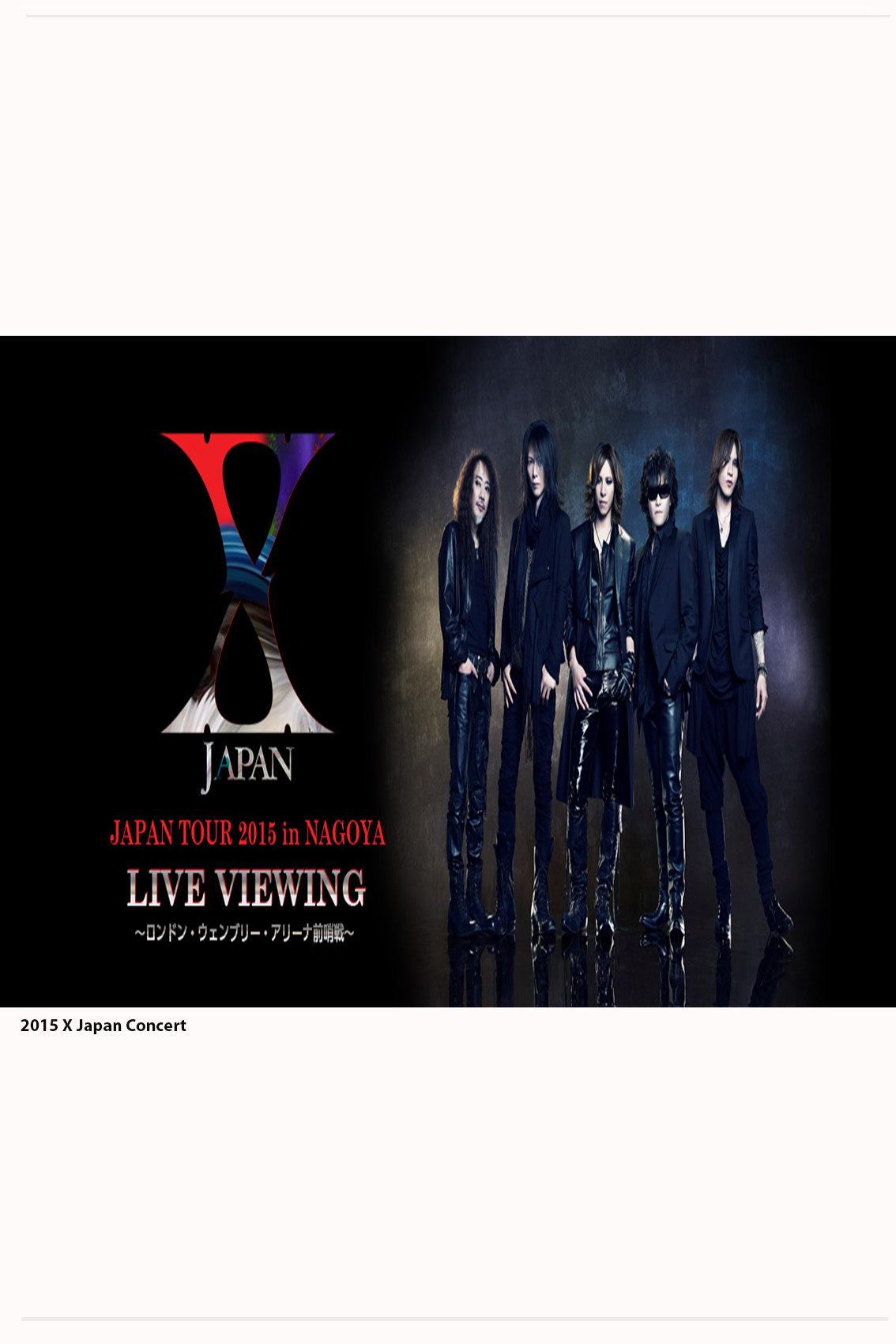 X Japan: Japan Tour 2015 in Nagoya [Concert 15 December 2015]