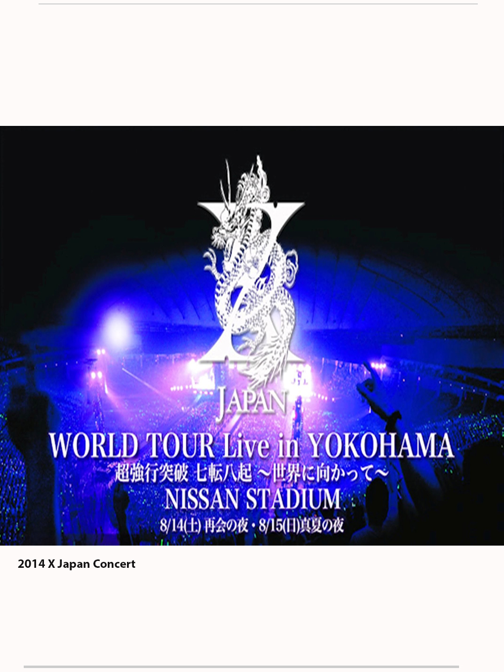 X Japan World Tour 2014 at Yokohama Arena [Concert 1 October 2014]