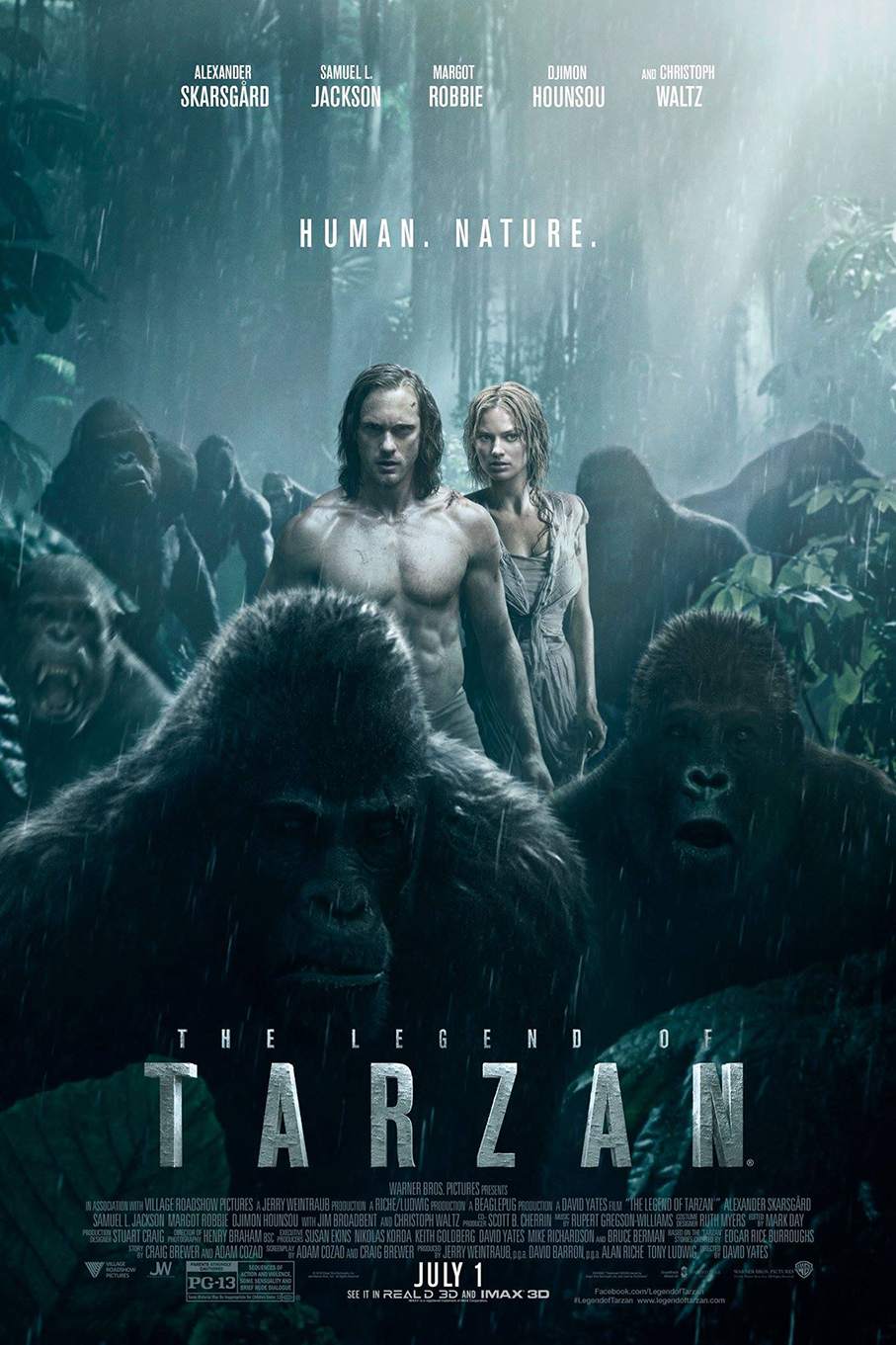 The Legend of Tarzan [2016 USA Movie] Action, Adventure, Drama