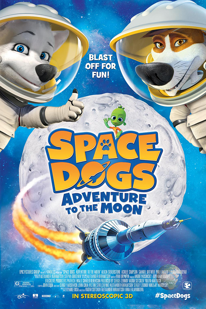 Space Dogs Adventure to the Moon [2016 Russia Cartoon Movie] Animation, Family