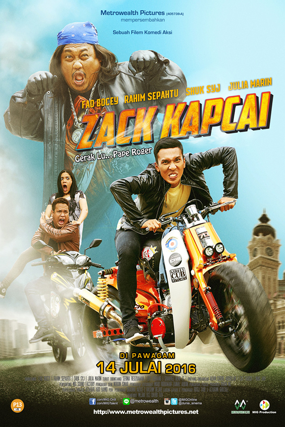 Zack Kapcai [2016 Malaysia Movie] Action, Comedy