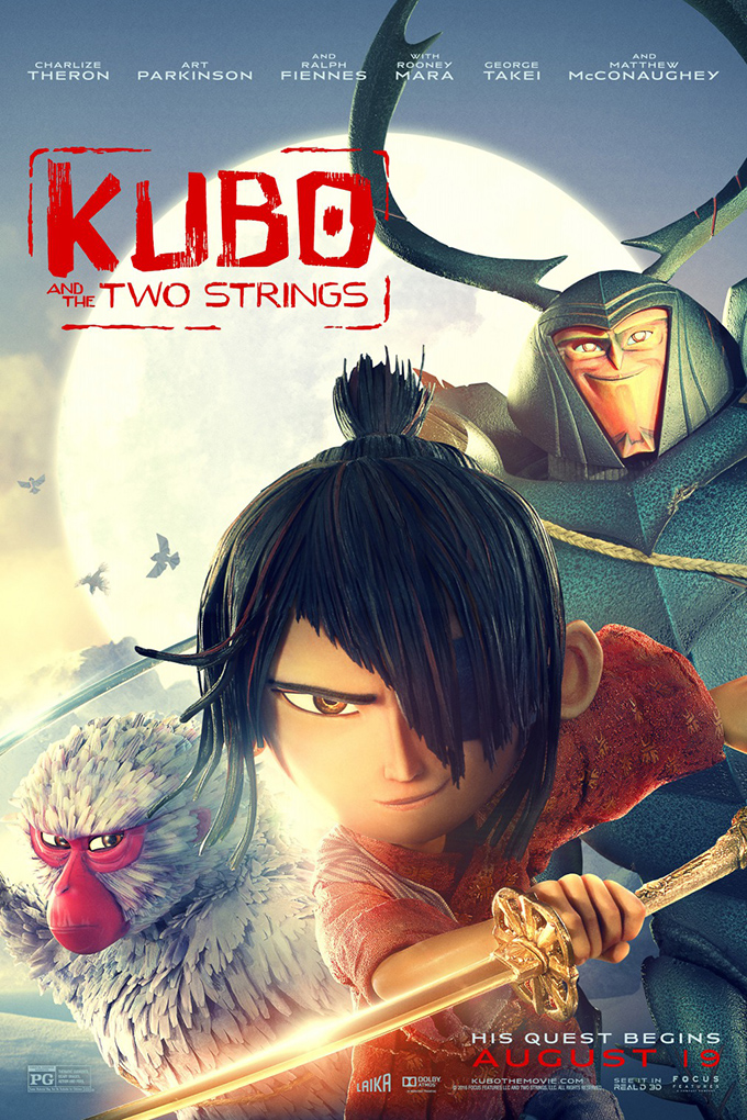 Kubo and the Two Strings [2016 USA Movie] Animation, Family, Adventure