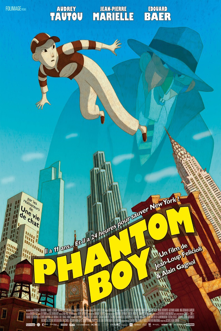 Phantom Boy [2015 France Cartoon Movie] Animation, Fantasy