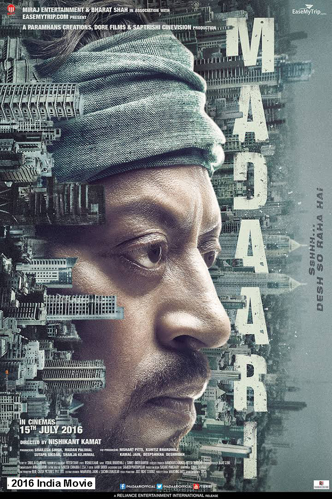 Madaari [2016 India Movie] Adventure, Crime, Drama