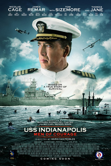 USS Indianapolis: Men of Courage [2016 USA Movie] Action, War