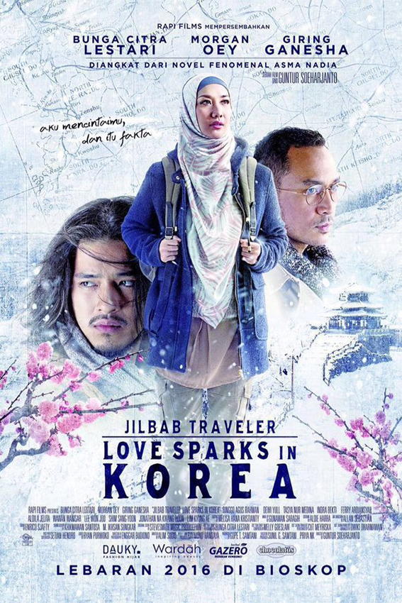 Jilbab Traveler Love Sparks in Korea [2016 Indonesia Movie] Romance
