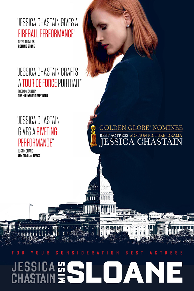 Miss Sloane [2016 USA & France Movie] Drama, Thriller