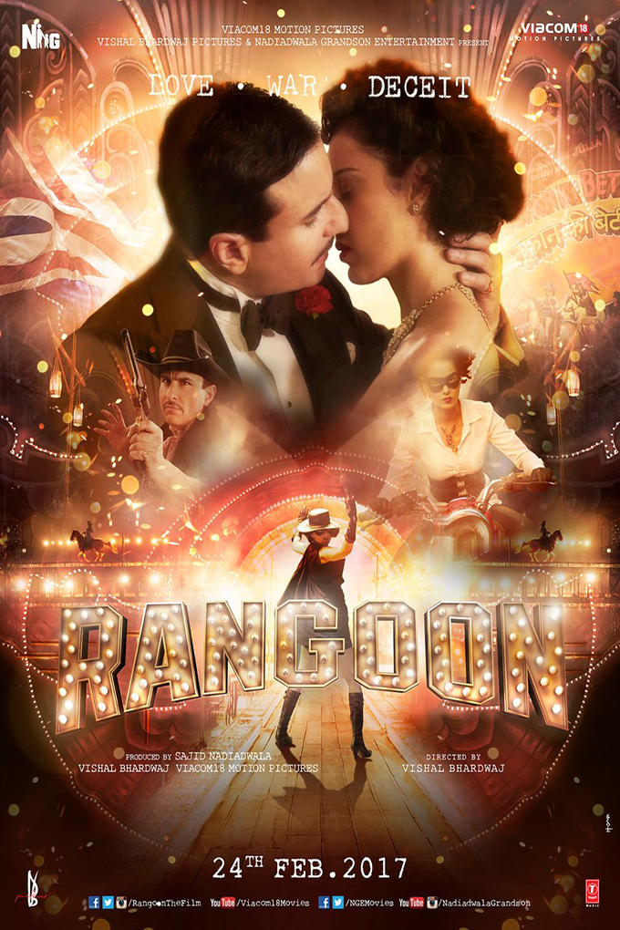 Rangoon [2016 India Movie] Action, Drama, History, Romance, War
