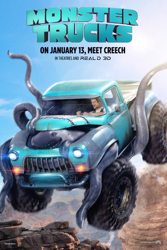 Monster Trucks [2016 USA Movie] Action, Adventure