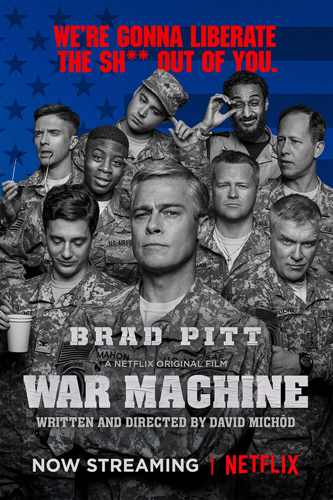 War Machine [2017 USA Movie] Comedy, Drama, War