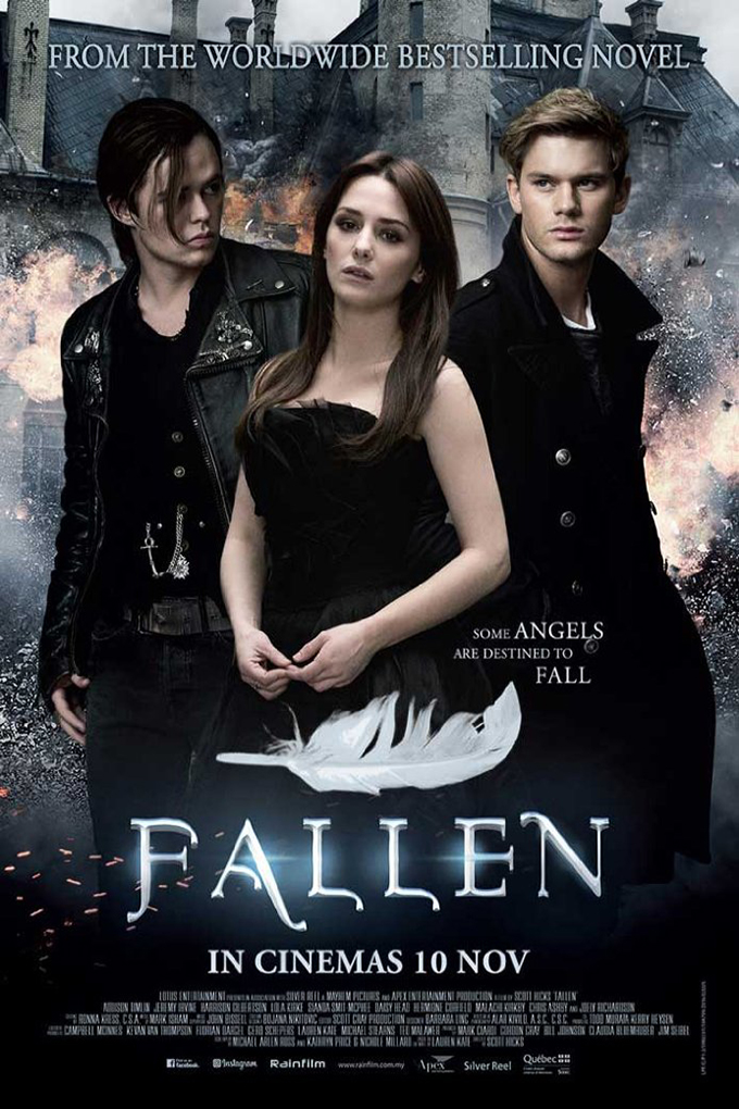 Fallen [2017 USA, UK & Hungary Movie] Adventure, Drama, Fantasy, Romance, Thriller