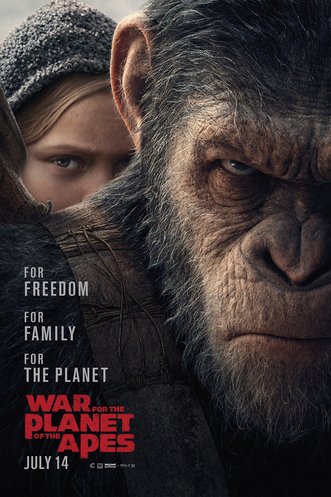 War for the Planet of the Apes [2017 USA, Canada & New Zealand Movie]  Action, Adventure, Drama