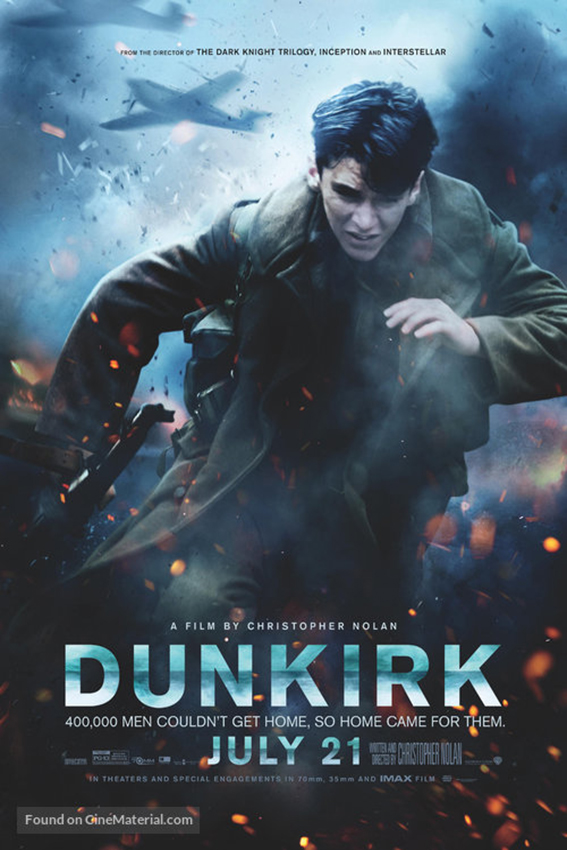 Dunkirk [2017 USA, UK, Netherlands & France Movie] Thriller, Drama, History, True Story