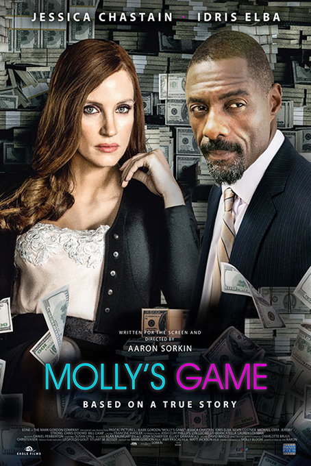 Molly's Game [2017 USA, China & Canada Movie] Biography, Crime, Drama, True Story