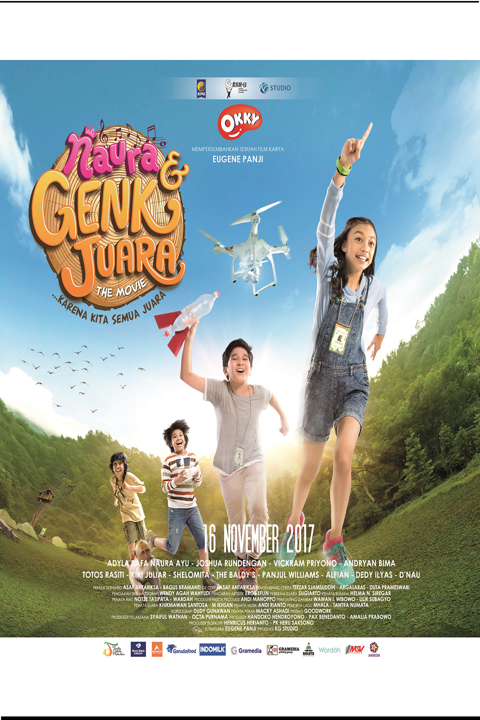 Naura & Genk Juara [2017 Indonesia Movie] Adventure, Drama, Musical