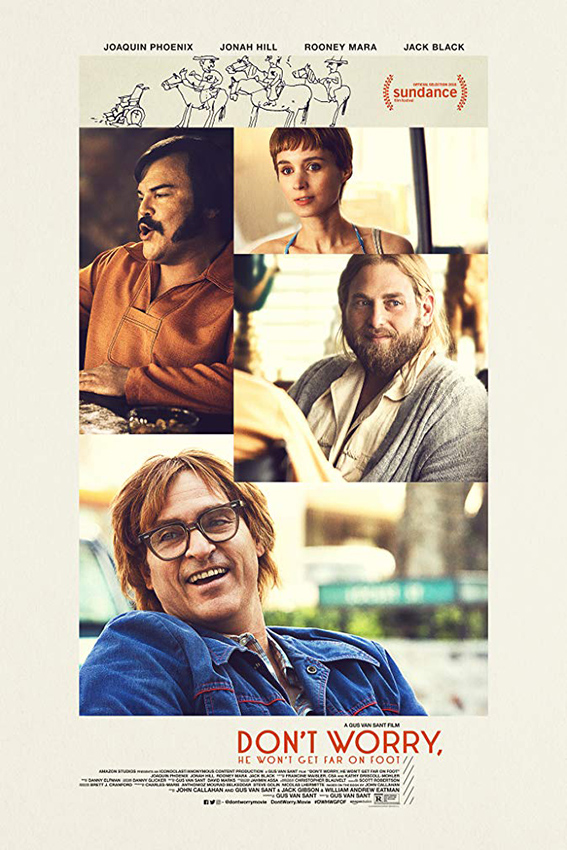 Don't Worry, He Won't Get Far on Foot [2018 USA Movie] Biography, Comedy, Drama