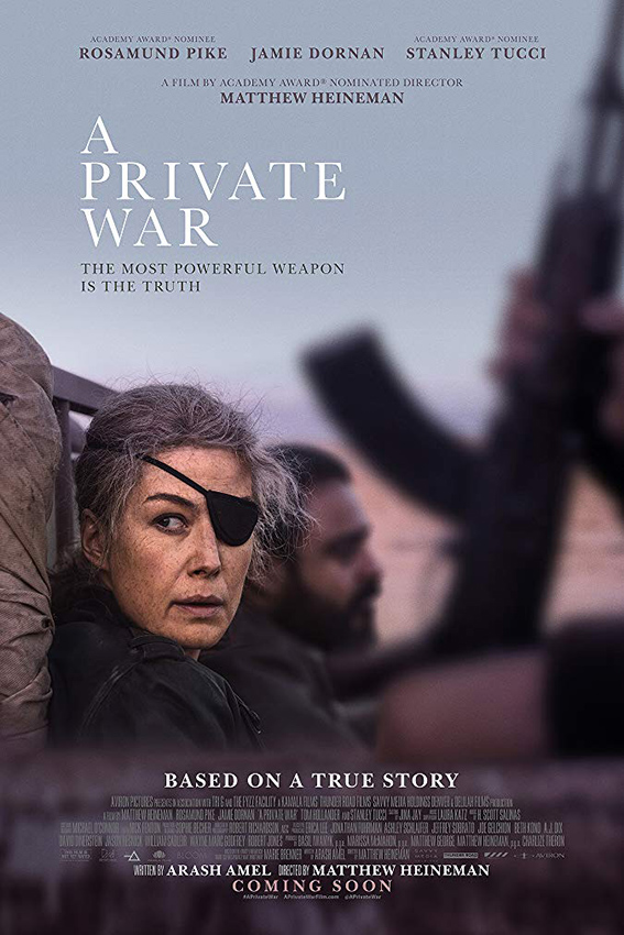 A Private War [2018 USA Movie] Drama, War, True Story