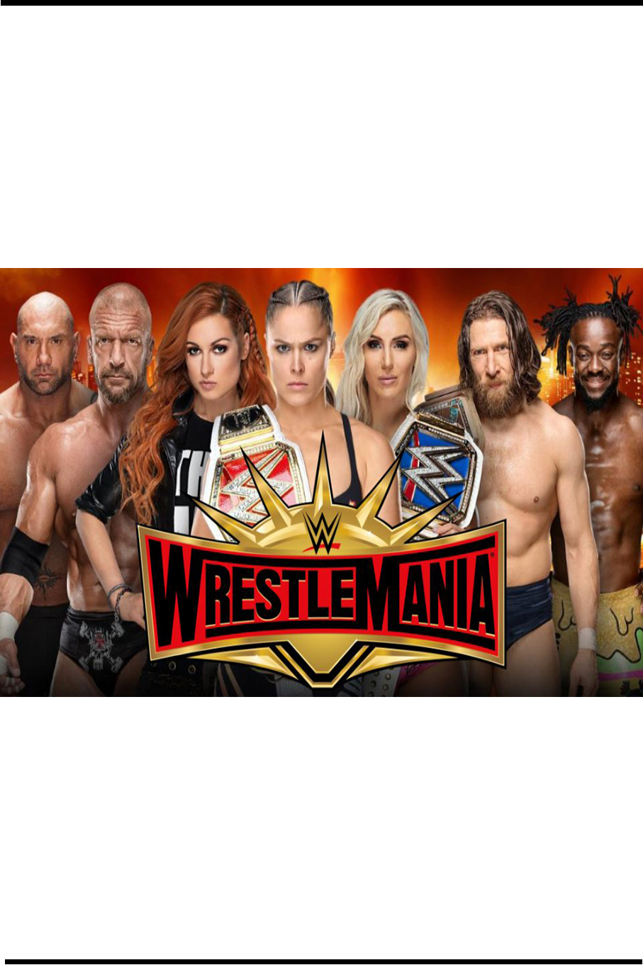 WWE WrestleMania 35 [2019 USA Show] Sport