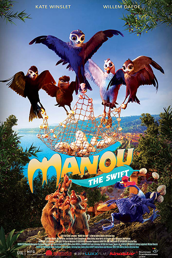 Birds of a Feather [2019 Germany Movie] English, Animation, Family aka. Manou The Swift
