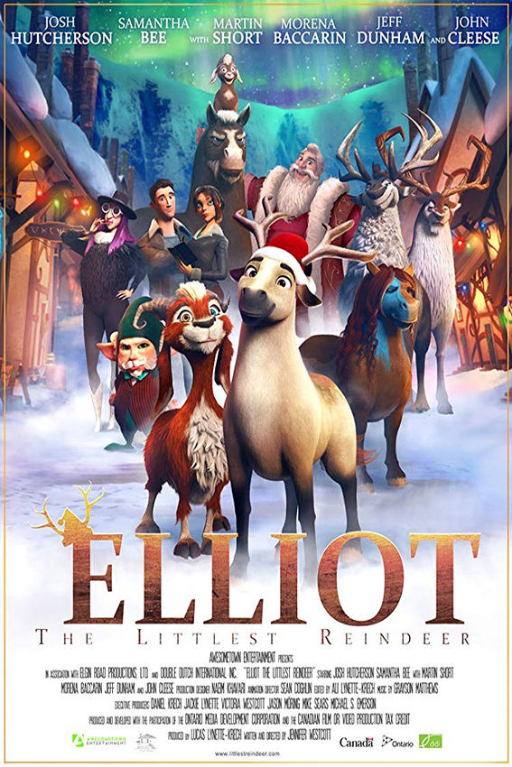 Elliot: The Littlest Reindeer [2018 USA Movie] Animation, Family