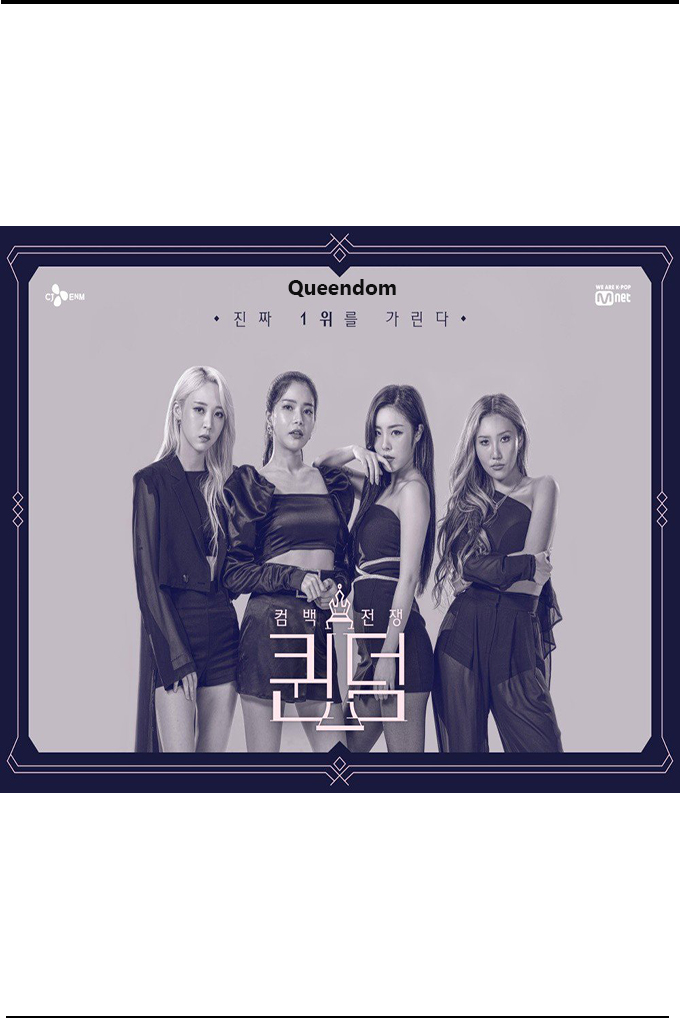 Queendom [2019 South Korea Series] 10 episodes END (2) Reality Show