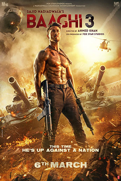 Baaghi 3 [2020 India Movie] Hindi, Action, Thriller
